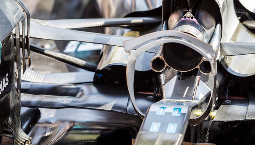 Resultado de imagen de Tubo de escape de F1 Mercedes