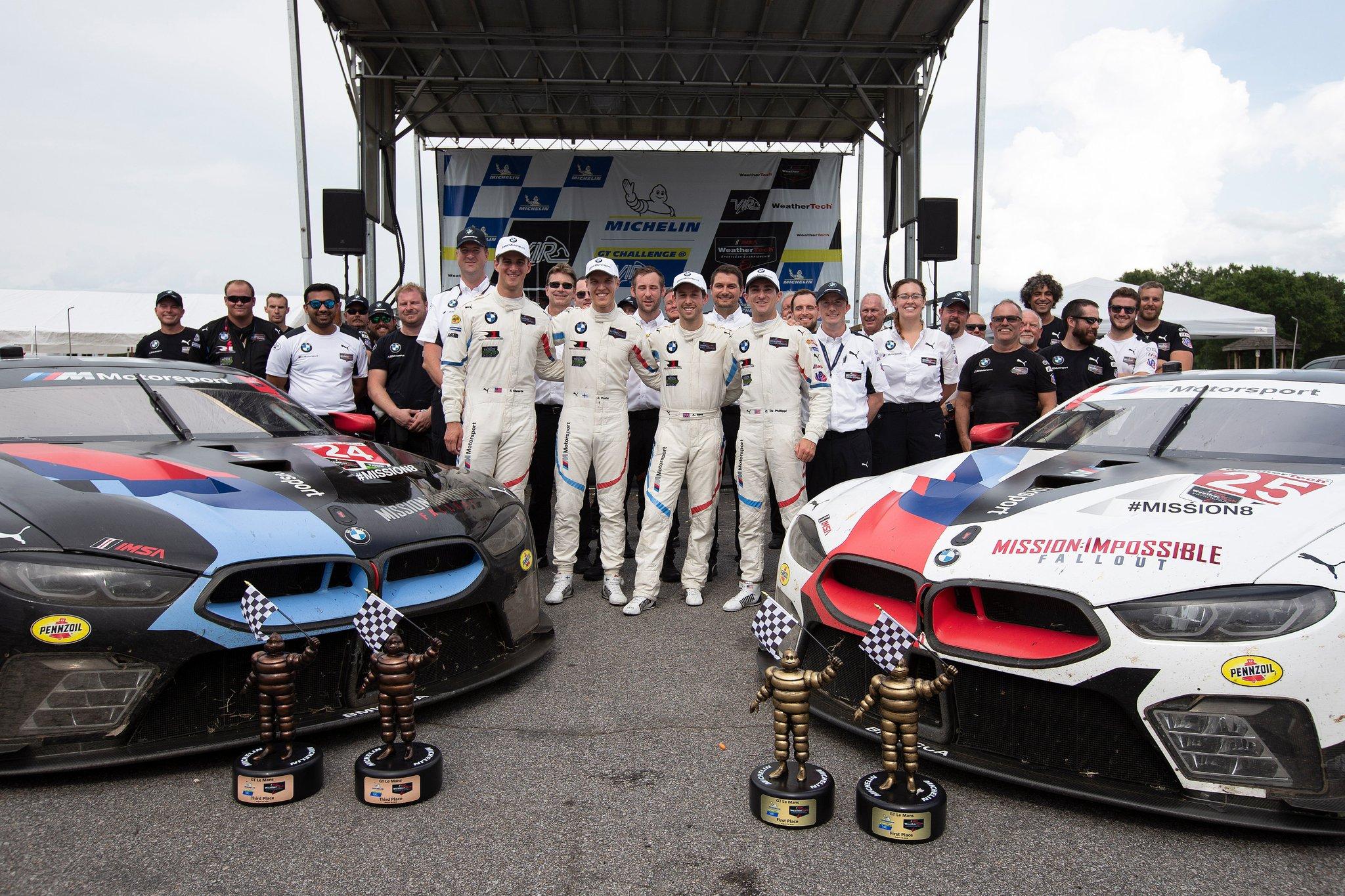 BMW celebra la victoria en Virginia.