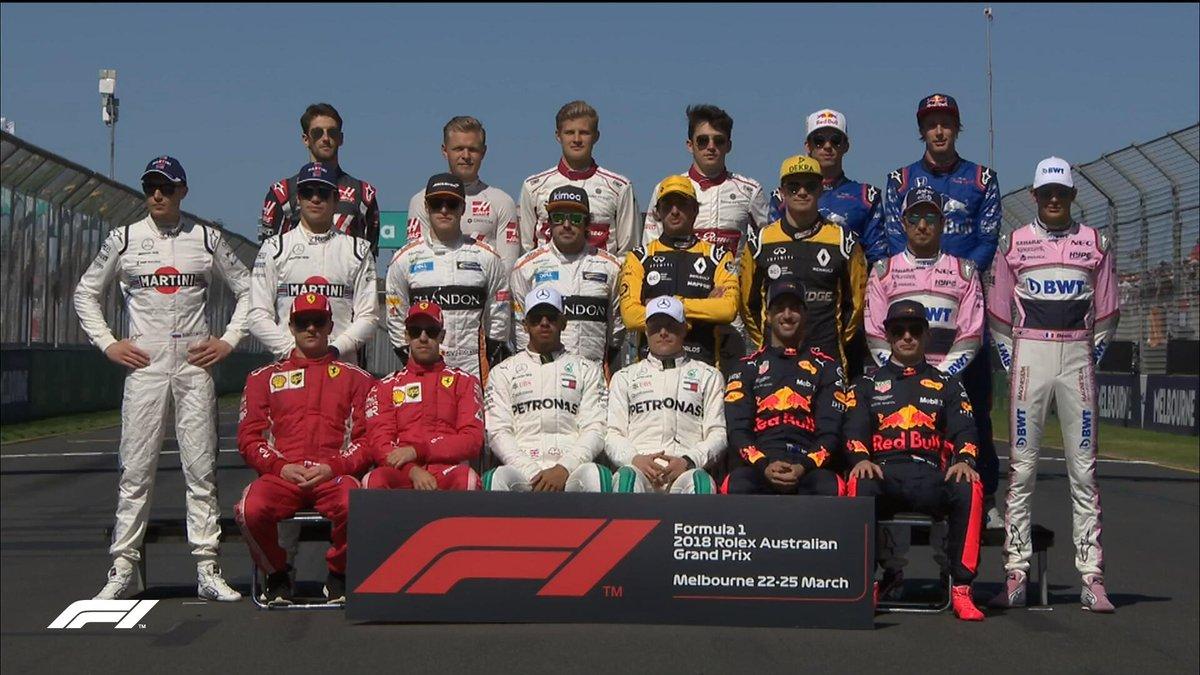 Pilotos F1 2018