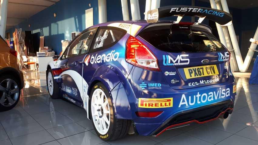 El coche de Miguel Fuster para el Rally Princesa de Asturias