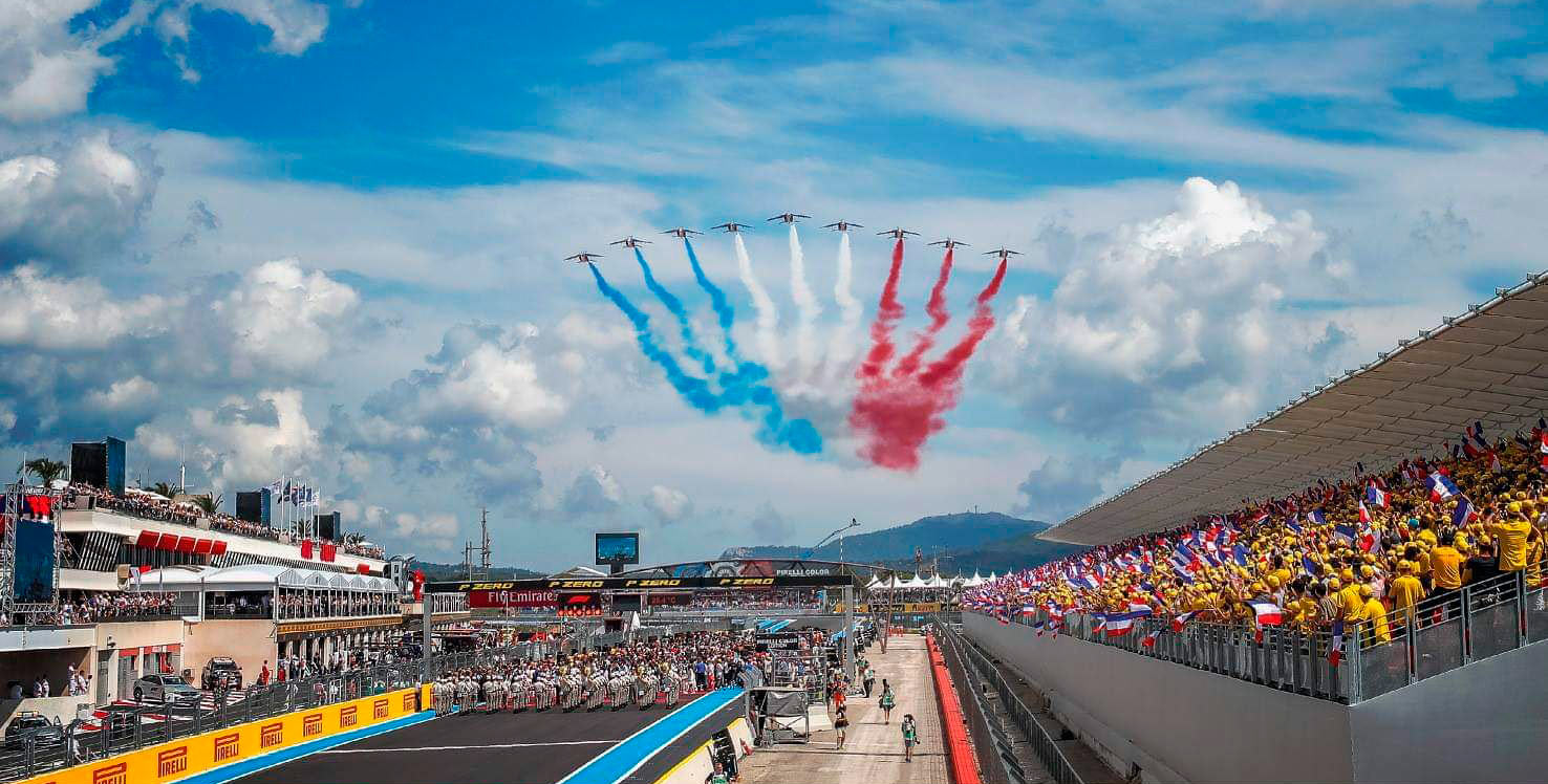 Parrilla de salida del GP de Francia 2018 en Paul Ricard