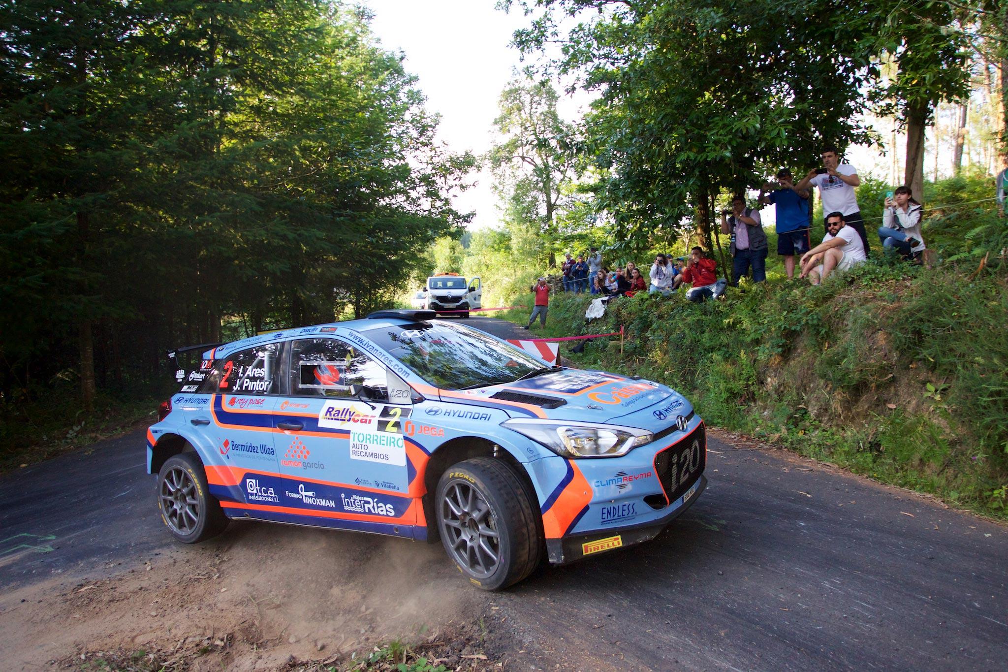 Iván Ares en el Rallye de Ferrol 2018
